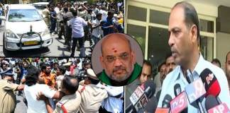 AP DGP Malakondaiah comments on Amit Shah convoy Stone pelting