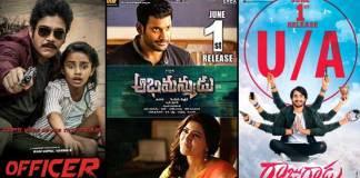 Officer Movie, Rajugadu movie, and Abhimanyudu movie release on June 1