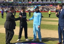 england won the toss and choose to bat first