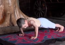 six years old boy does 4200 pushups in 2 hours