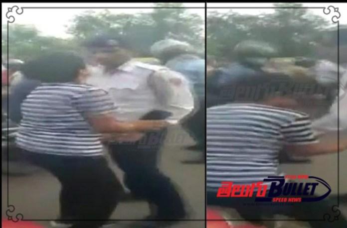 drunk woman stopped for not wearing helmet