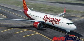 spicejet flight stopped at renigunta airport due to technical problem