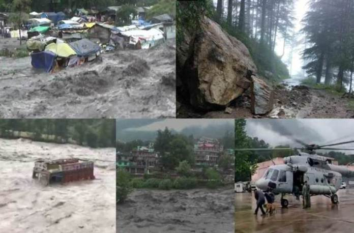 Heavy floods in Himachal Pradesh ...Minister stranded in floods