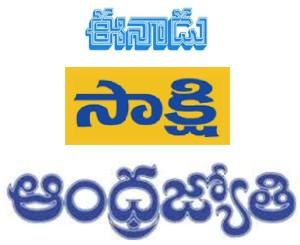 sakshi eenadu andhrajyothi papers same word