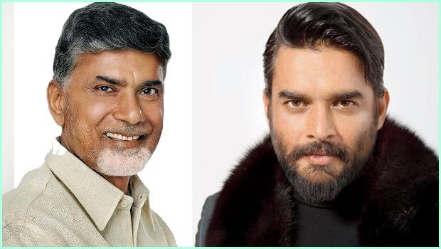 ysrcp websites scold to madhavan because he praise to cm chandrababu