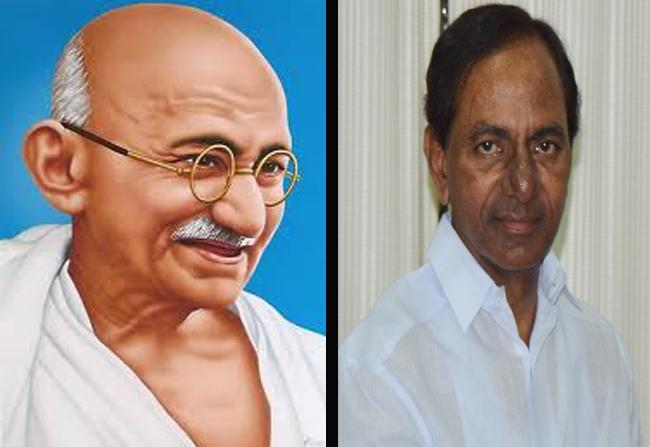 How KCR Is Mahatma Gandhi