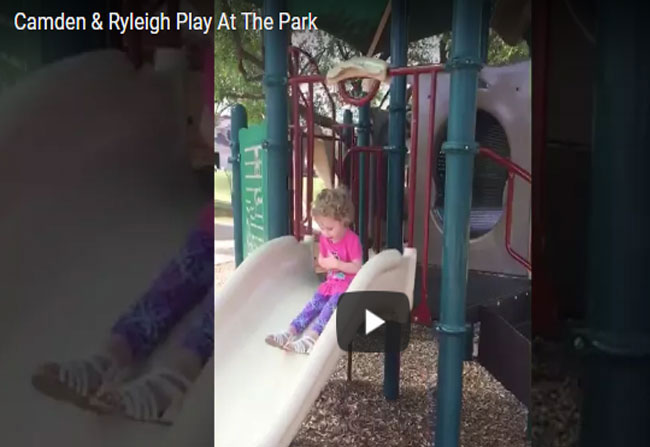 Limb Children's Playing In A Park Video