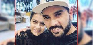 Yuva Raj selfie with Kajol