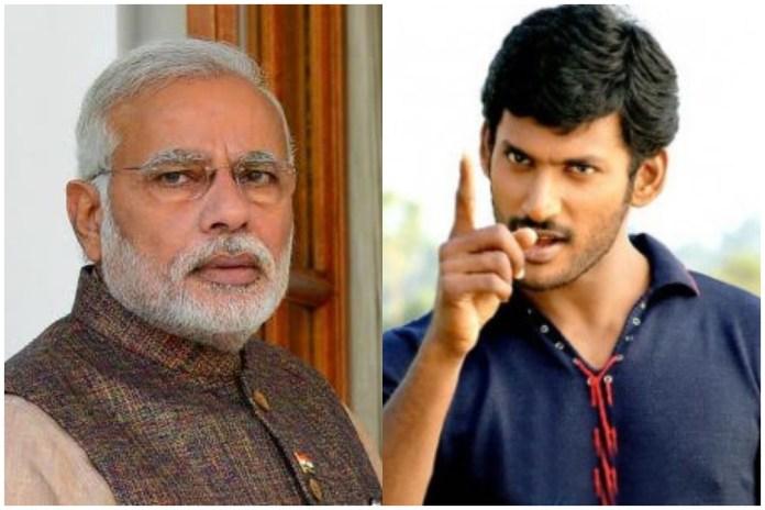 Modi Revenge On Hero Vishal