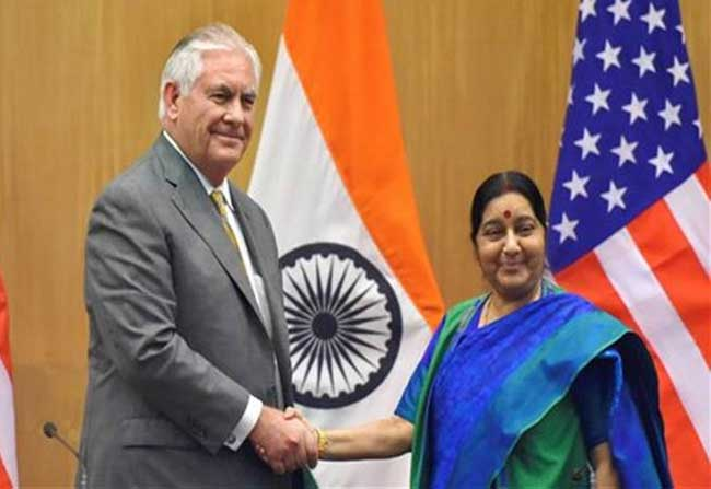 Sushma Swaraj defends India's ties with NK with US counterpart!