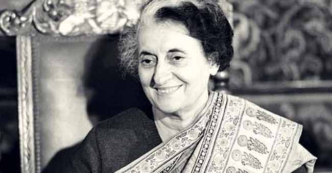 What happened on the evening of Indira Gandhi's death?