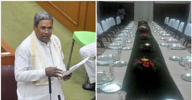 CM spends Rs. 10 Lakhs on food, while Farmers are hanging themselves with drought!