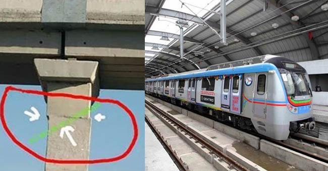 'Fake' Image Of Broken Hyderabad Metro Pillar Goes Viral On Whatsapp