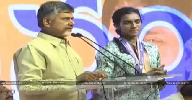 CBN opined that the silver medalist P. V Sindhu stands