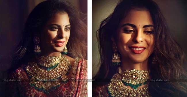 Isha Ambani Poses Like Indian Princess For Her Pre-Wedding Pooja