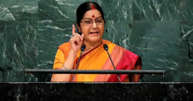 Sushma Swaraj has lashed out at KCR
