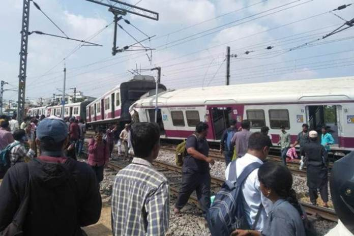 CCTV footage shows exact moment trains collided in Kacheguda
