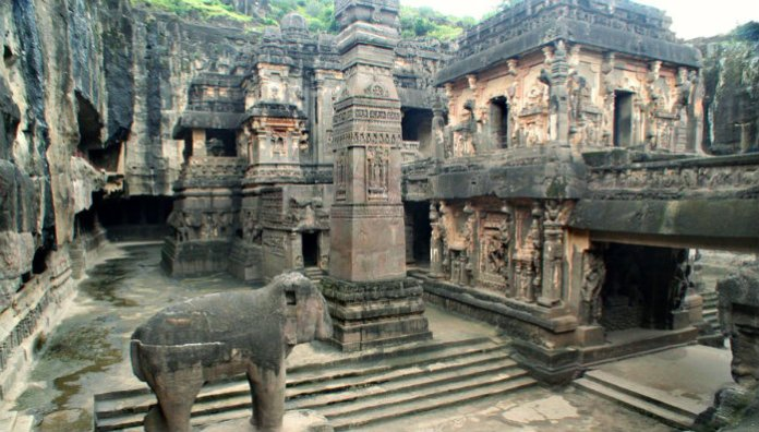 The secret of the Kailash Temple .. Isn't it built by humans? Where are those caves?