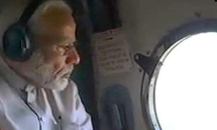 PM Modi takes aerial survey of cyclone Amphan-affected Odisha
