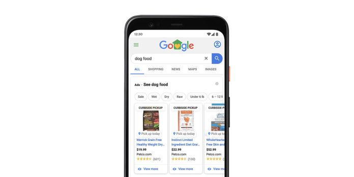 Google testing 'curbside pickup' badge for local shopping ads