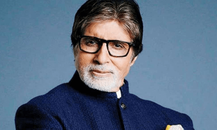 Amitabh Bachchan relishes nimbu paani on MayDay set