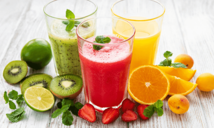 Have nutritional beverage with exercise for fit body, sharp mind
