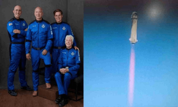 Bezos attempts history with flight to edge of space