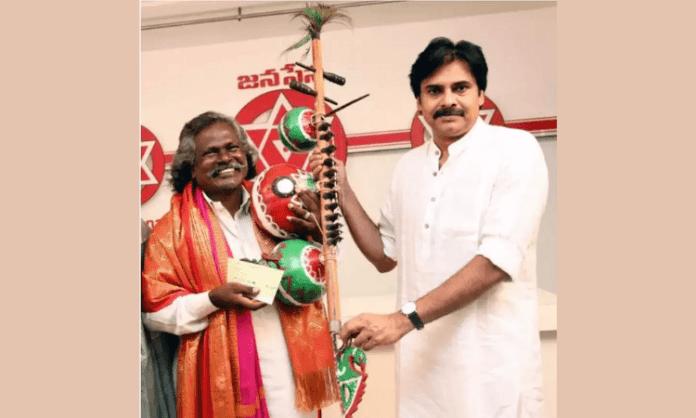 Pawan Kalyan honours folk artiste Mogulaiah of 'Bheemla Nayak' title song fame