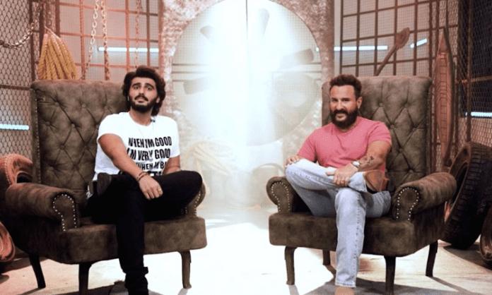 Saif Ali Khan, Arjun Kapoor turn host and guest on 'Teri Meri Baatein'