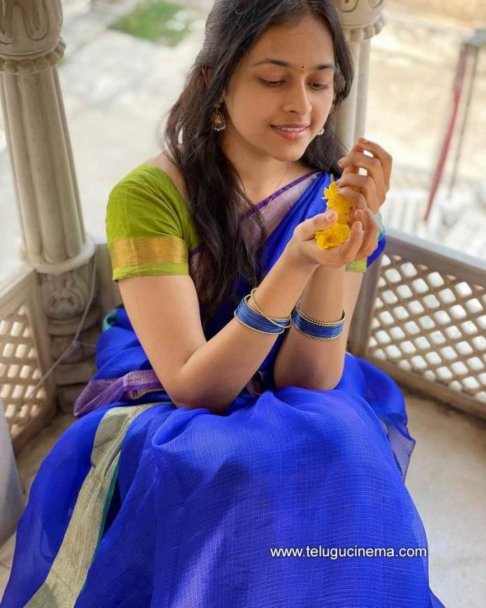 Sri Divya's traditional look