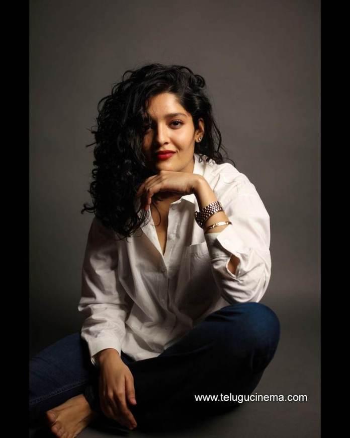 Ritika Singh in a white shirt