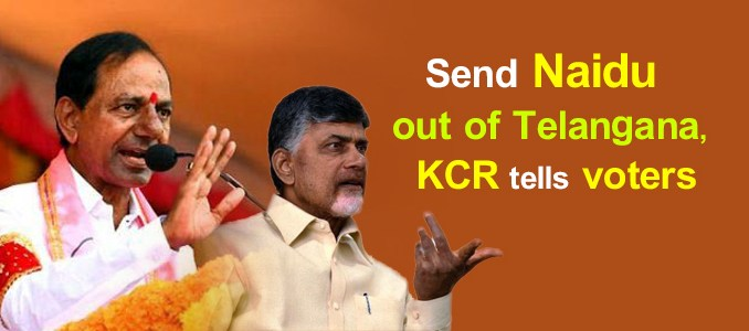 KCR comments on Chandrababu Naidu