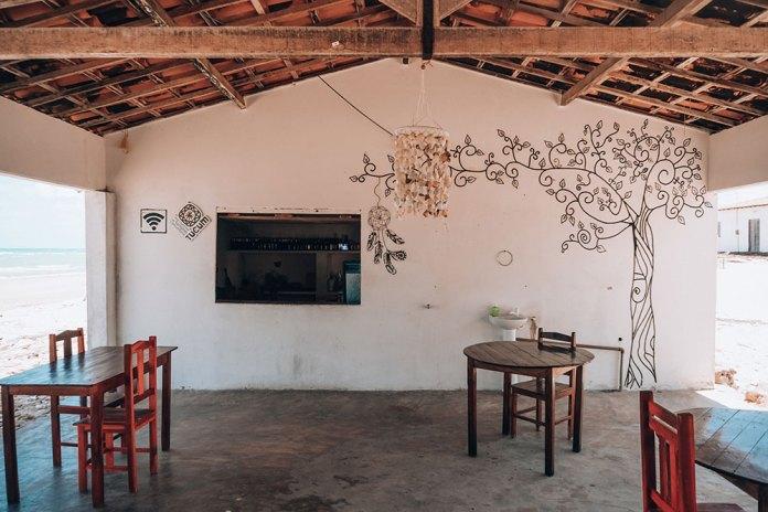 Restaurante das Mulheres. Empreendimento criado pelo grupo de mulheres de Caetanos de Cima como forma de geração de renda para as mulheres da comunidade.