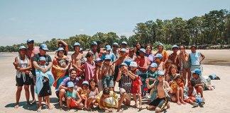 Passeio de fim de ano das crianças do Repique. Casa de cultura da ONG uruguaia El Abrojo.