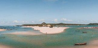Praia do Amor em Alter do Chão, Pará - só fica visível na época da seca