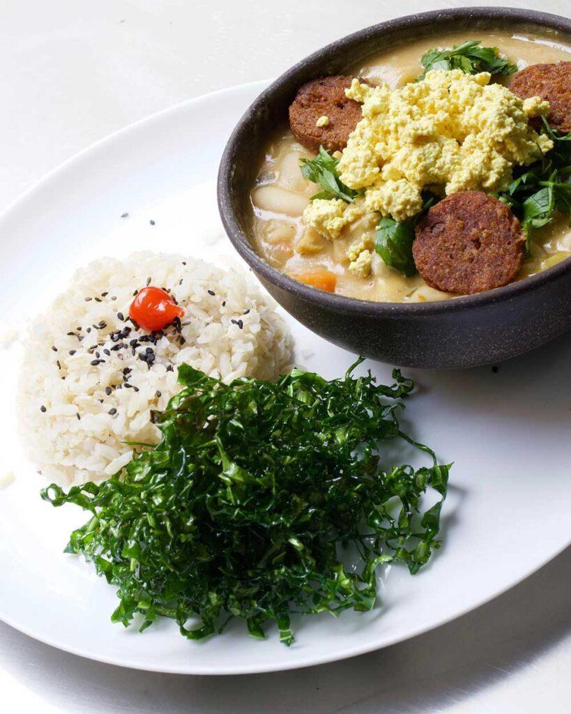 Mocotó com seitan e tofu mexido, sucesso no Subte Vegan