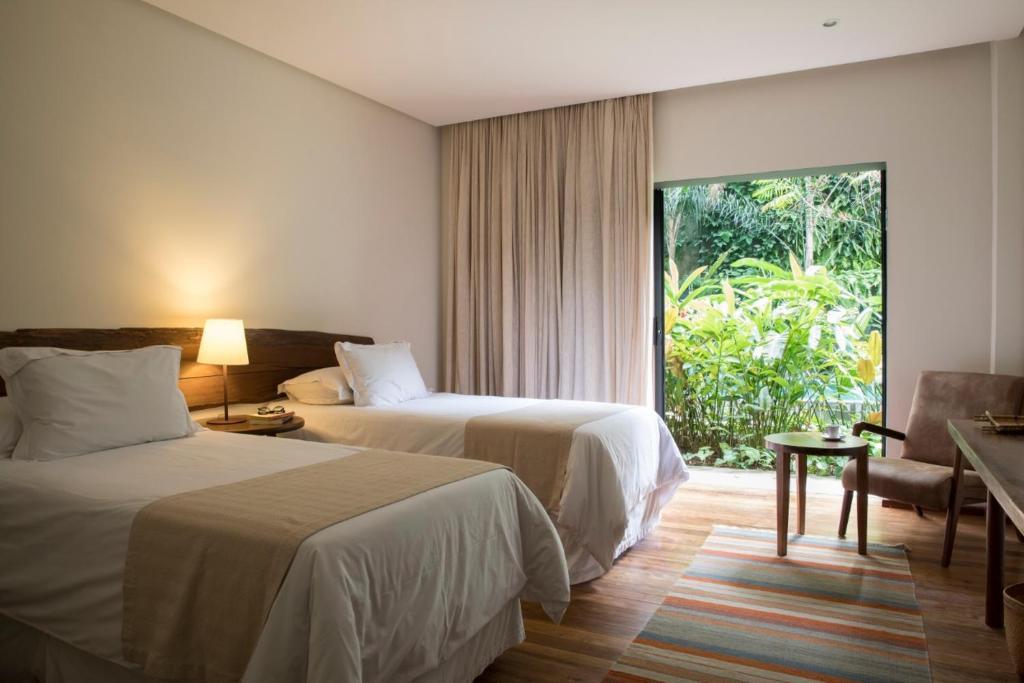 quartos com vista para o jardim do Hotel Villa Amazônia