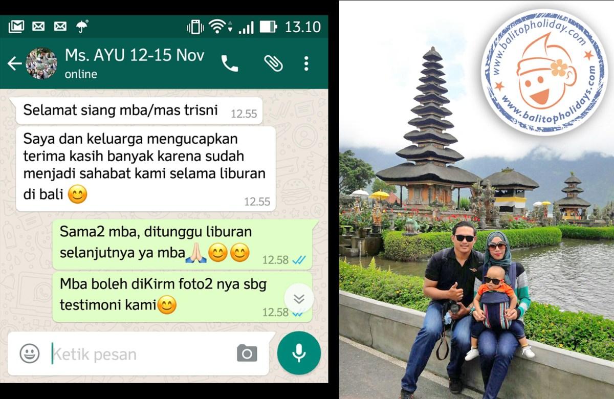 Paket Tour Bali 4 Hari 3 Malam (termasuk hotel atau tidak termasuk hotel)