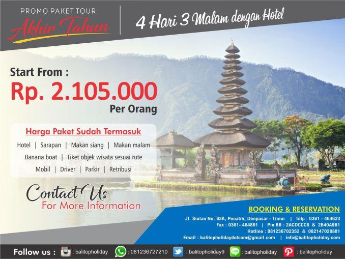 Paket Liburan Bali Desember 2016 (promo)
