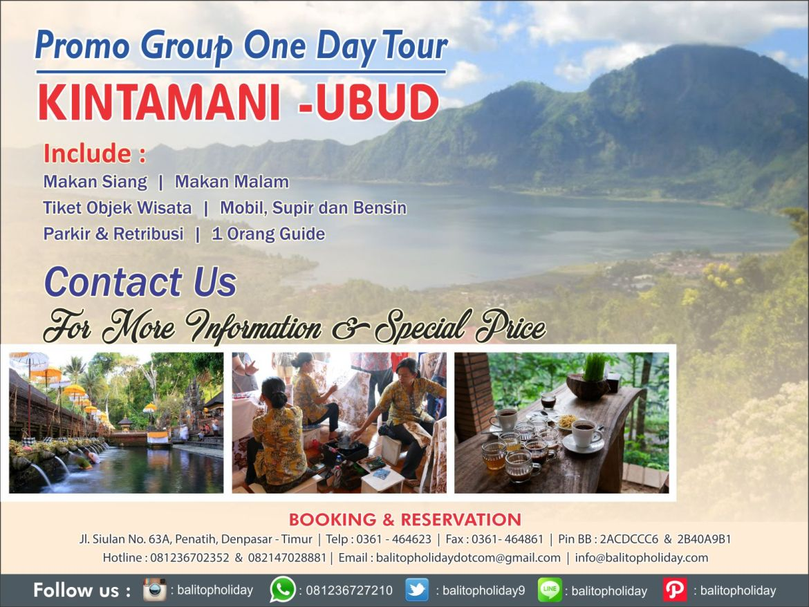 Promo Group One Day Tour KINTAMANI -UBUD