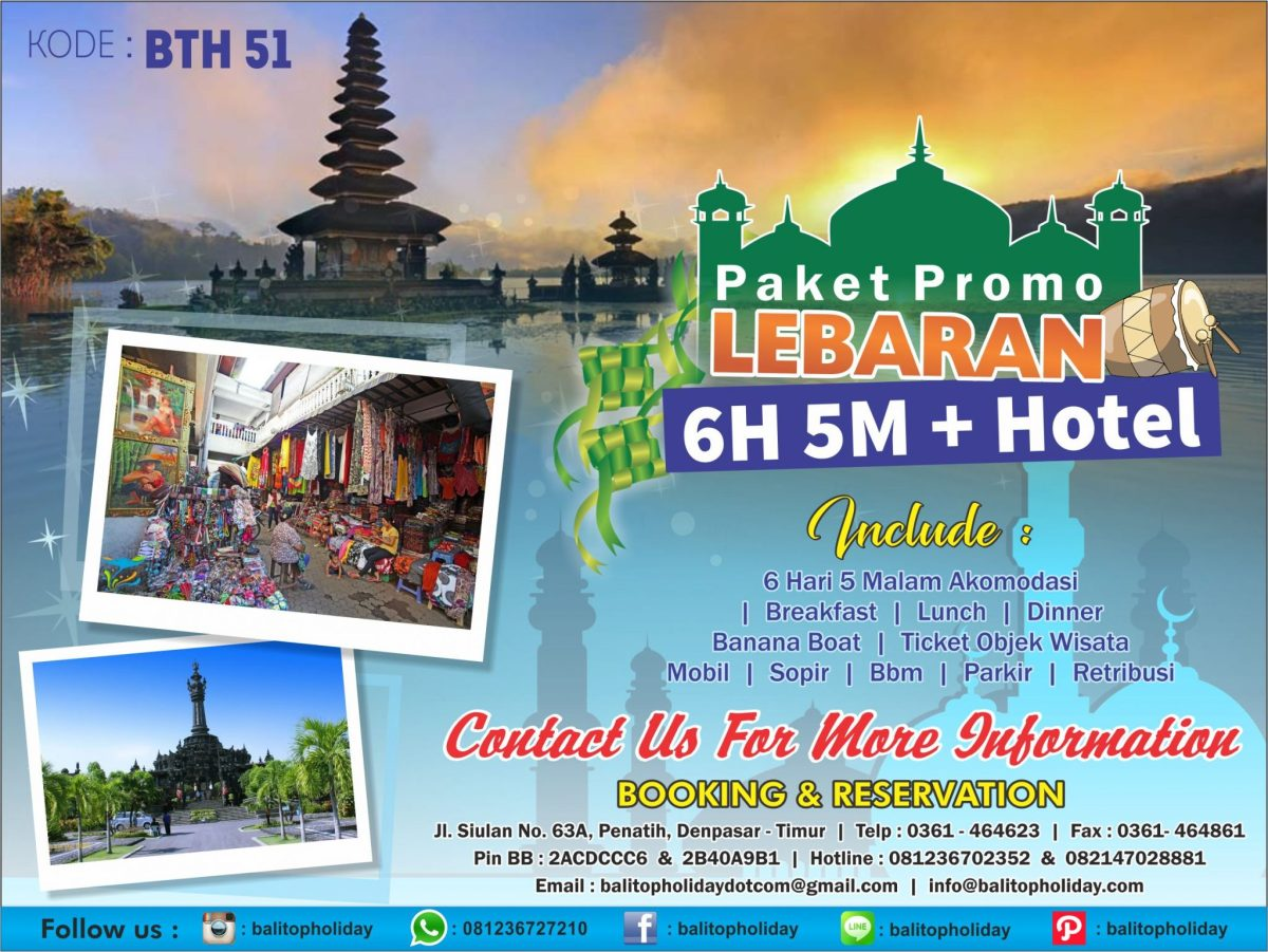 Promo Liburan Lebaran di Bali 2017