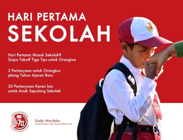 Cover Indonesia Merdeka Hari Pertama Sekolah blog