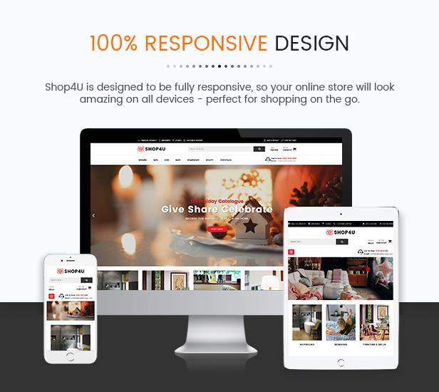 Shop4U Tüm Cihazlarda Görünüm