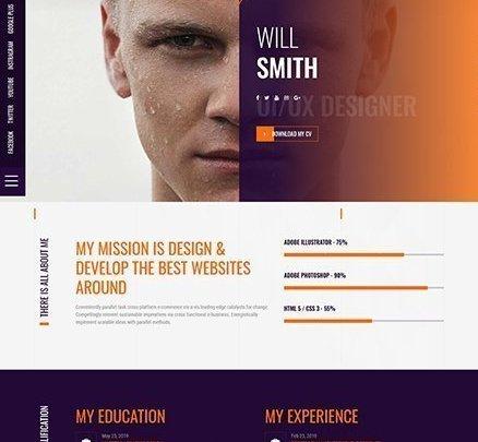 Career Portfolio ücretsiz wordpress portföy teması
