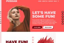 Pushan Ücretsiz Portföy Wordpress Teması