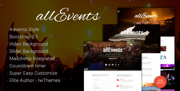 Allevents tema para eventos en general