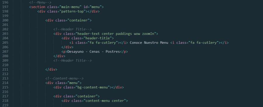 Tema html para restaurante con soporte en español