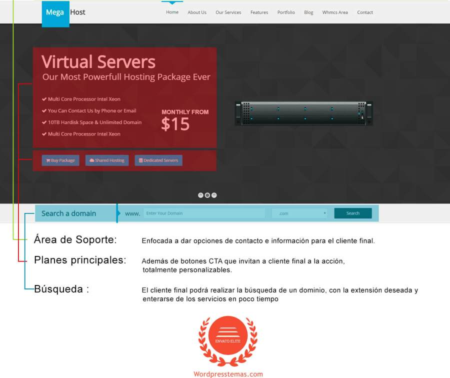 megahost tema wordpress para hosting 1