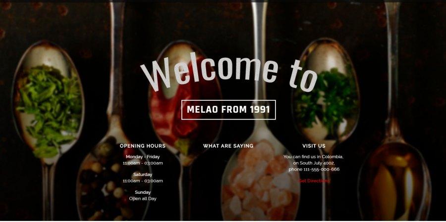 Melao Tema html/css para restaurantes