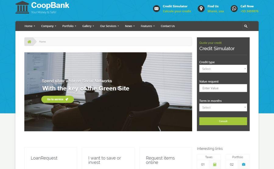 tema coopbank para finanzas